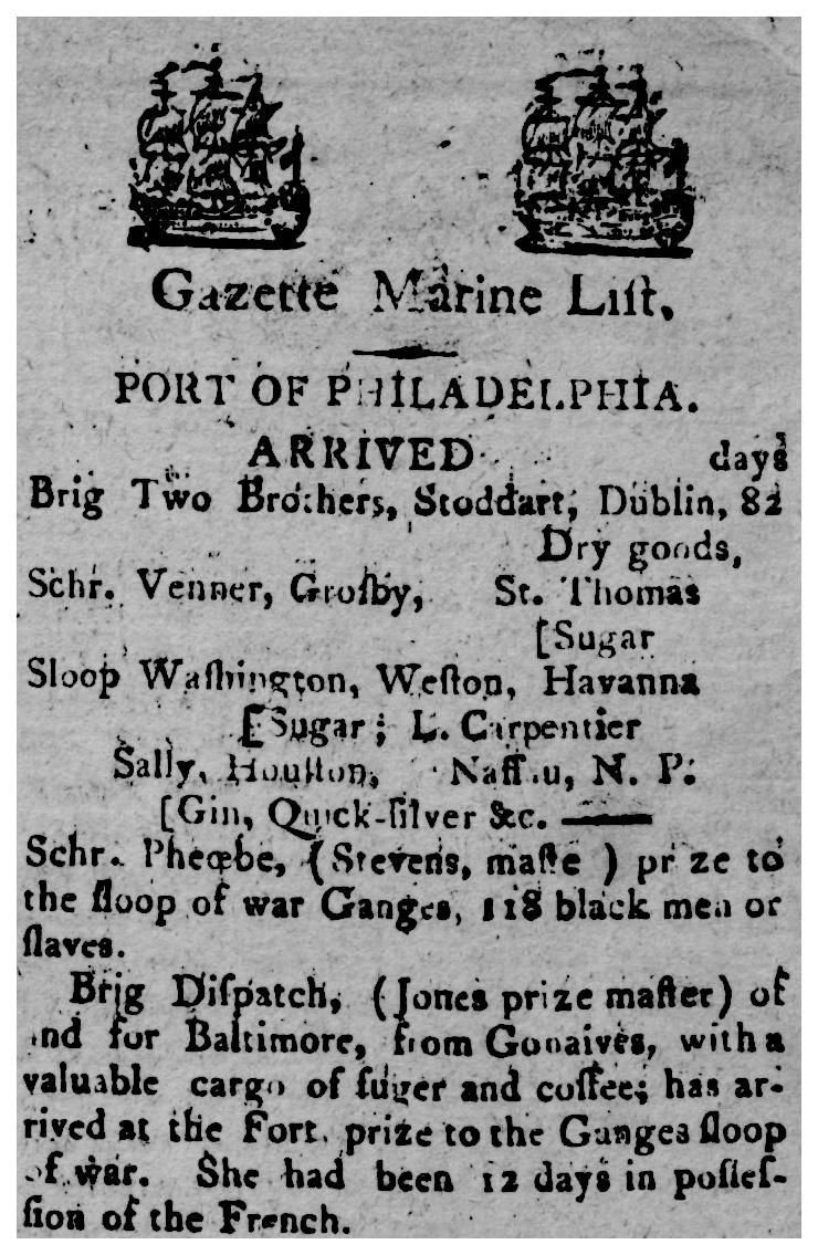 the philadelphia gazette and daily advertiser5aug1800p3v2